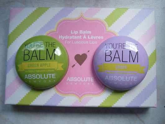 "ABSOLUTE NEW YORK Duo Lip Balm ""You're the balm"" (Green Apple + Grape) Verpackung"