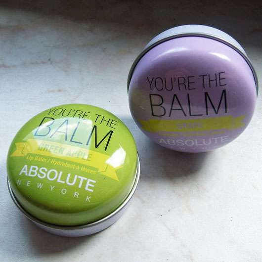 "ABSOLUTE NEW YORK Duo Lip Balm ""You're the balm"" (Green Apple + Grape) Design"