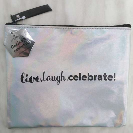 essence live. laugh. celebrate! make-up bag (LE) Design