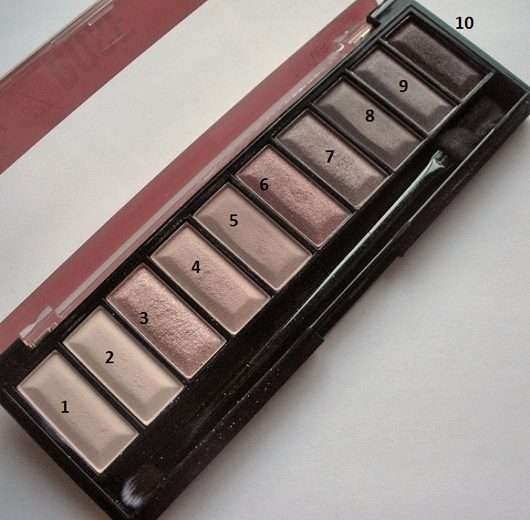 geöffnete Palette - Misslyn Must-Have Eyeshadow Shades, Farbe: 2 Shades Of Rose