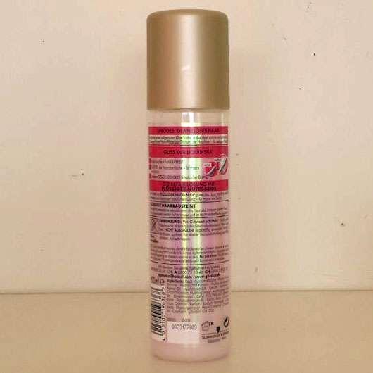 Schwarzkopf GLISS KUR Liquid Silk Express-Repair-Spülung - Flasche Rückseite