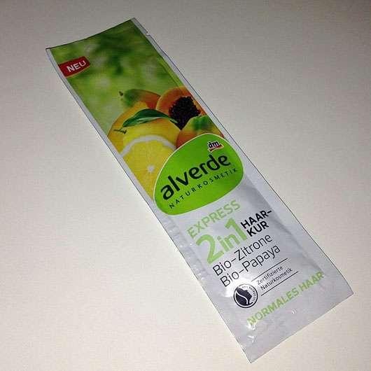alverde 2in1 Express Haarkur Bio-Zitrone und Bio-Papaya - Sachet