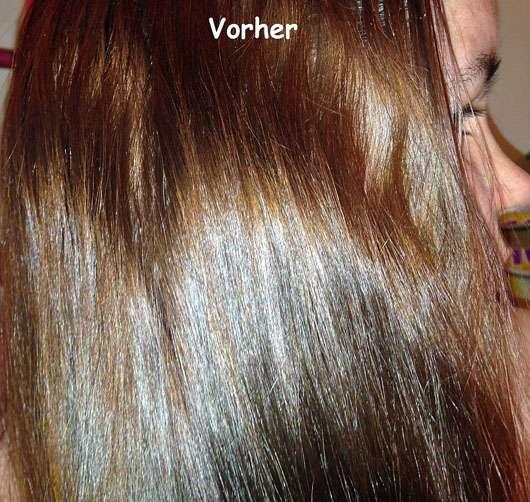 alverde 2in1 Express Haarkur Bio-Zitrone und Bio-Papaya - Haare vorher