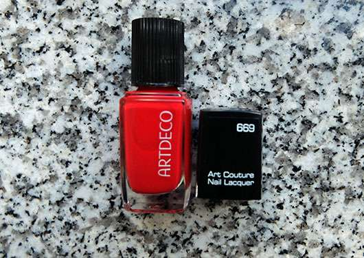 Artdeco Art Couture Nail Lacquer, Farbe: 669 On Fire - Flasche mit abgenommenen Deckel