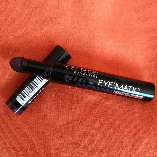 Catrice Eye'Matic Eyepowder Pen, Farbe: 070 Aubergenius - Stift geöffnet
