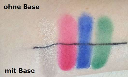 essence live. laugh. celebrate! eyeshadow palette, Farben: 04, 08, 09, 10 (LE) - Swatches