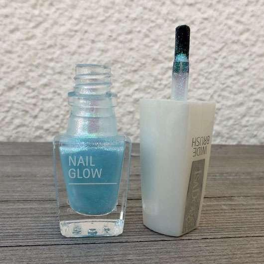 IsaDora Nail Glow, Farbe: 843 Aqua Glow (LE) - Flakon geöffnet