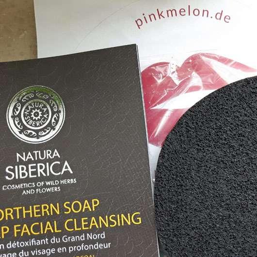 NATURA SIBERICA Nordische Seife zur Tiefenreinigung der Gesichtshaut - Schwamm