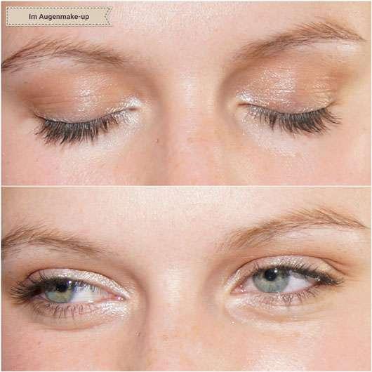 p2 eye-D eye shadow, Farbe: 020 ID 3585 -auf den Augen aufgetragen