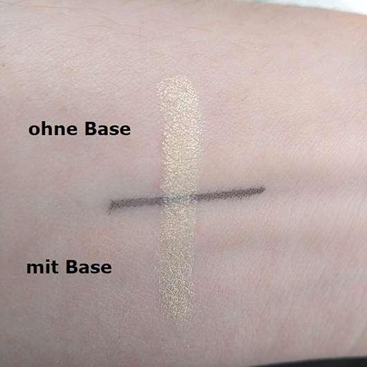 Rival de Loop Young Eyeshadow Pencil, Farbe: 22 vanilla flair - Swatch mit und ohne Base