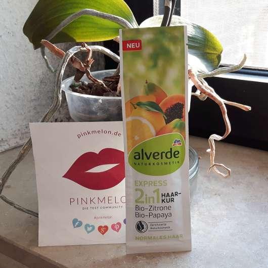 alverde 2in1 Express Haarkur Bio-Zitrone und Bio-Papaya
