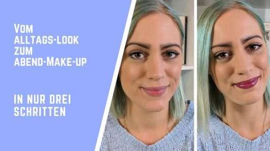 Alltags-Look in Abend-Make-up umwandeln