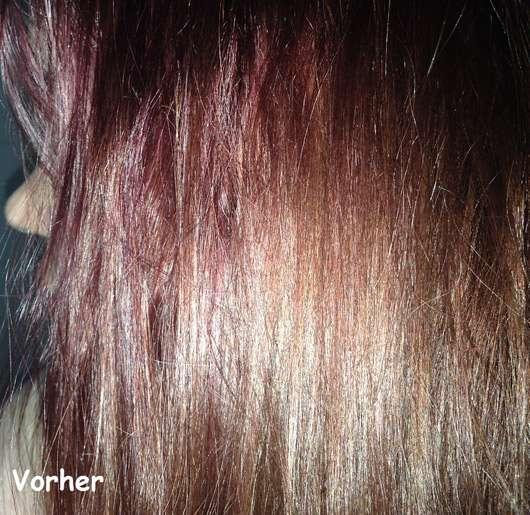 HASK Argan Oil Repairing Shine Hair Oil - Haare vorher