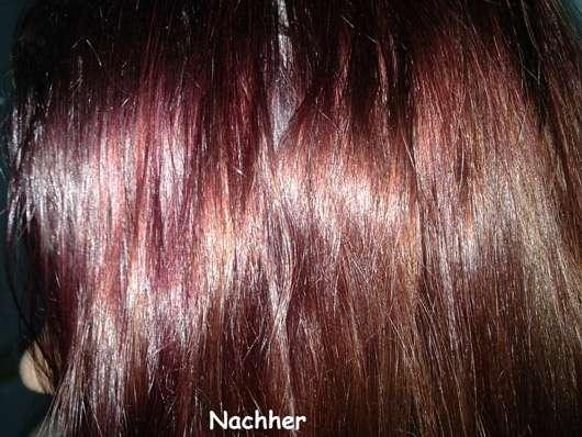 HASK Argan Oil Repairing Shine Hair Oil - Haare nachher