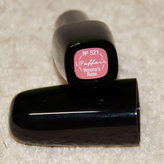 L.O.V LIPaffair Color & Care Lipstick, Farbe: 521 Verena's Rose - Farbaufkleber