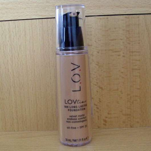 L.O.V LOVtime 18h Long Lasting Foundation, Farbe: 020 Fair Dream - Flakon