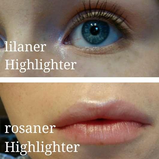 "Makeup Revolution Highlighting Powder Palette ""Highlight"" - Highlighter am Auge und Lippenherz"