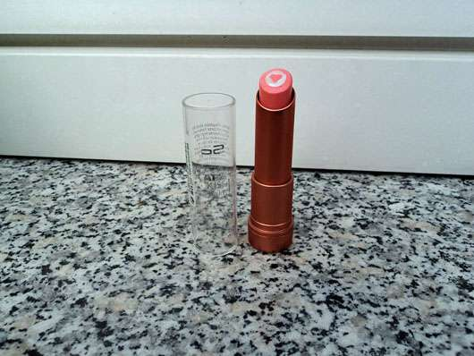 p2 care kiss lip balm, Farbe: 101 apricot bubbly - Verpackung geöffnet
