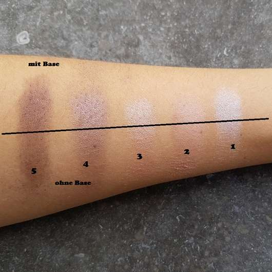 Swatches der p2 for the dreamers eye shadow palette
