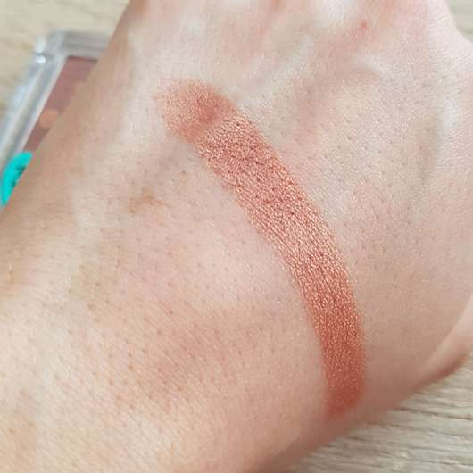 Swatch - essence metal chrome blush, Farbe: 30, the beauty and the bronze