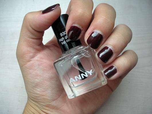 ANNY High Gloss Top Coat - auf Farblack aufgetragen