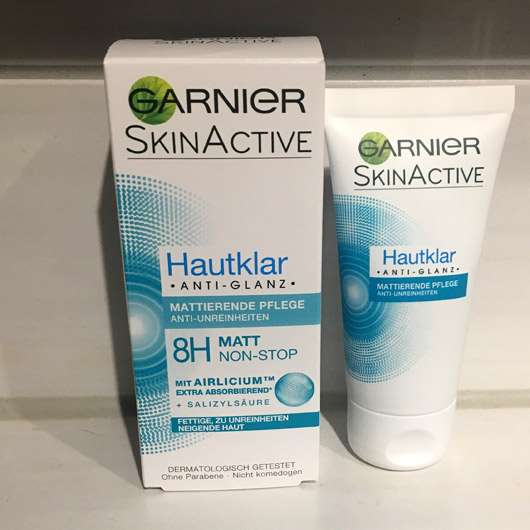 Garnier SkinActive Hautklar Anti-Glanz Mattierende Pflege - Verpackung