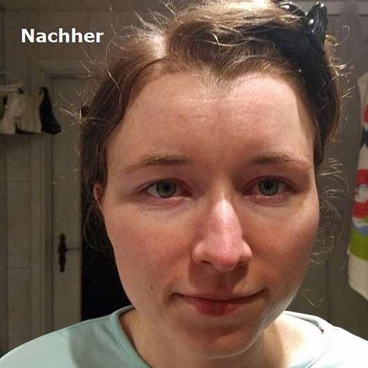 Hey Organic The Ultra Hydrator Tuchmaske - Gesicht nach der Anwendung