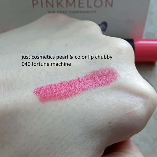 just cosmetics pearl & color lip chubby, Farbe: 040 fortune machine - Swatch