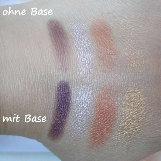 Swatches ohne/mit Base - Make up Factory Eye Colors, Farbe: 89A Oriental Night (LE)