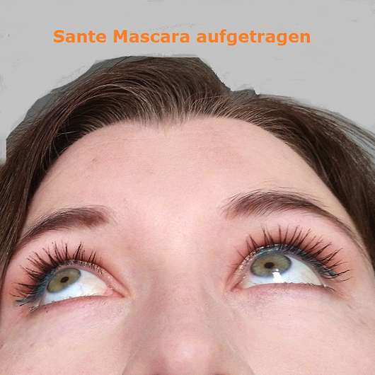 SANTE Mini makes MEGA Lashes, Farbe: 01 Black - Augen mit Mascara