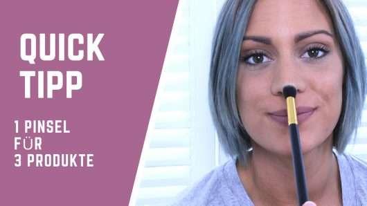 Beauty Hacks: So nutzt ihr einen Pinsel für 3 Produkte