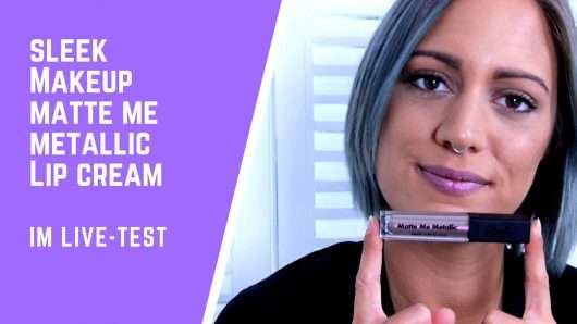 Herbsttrend Metal: Sleek MakeUp Matte Me Metallic Lipstick im Test