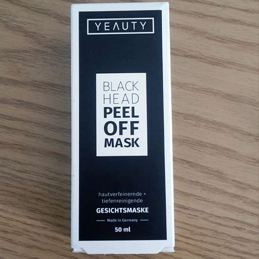 YEAUTY Black Head Peel Off Mask - Verpackung