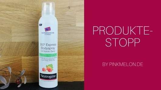 Time Saver am Morgen: Neutrogena 360° Bodyspray Express