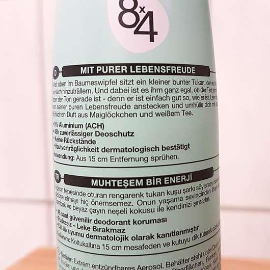 8x4 sing like a toucan Deodorant Spray (LE) - Aufschrift