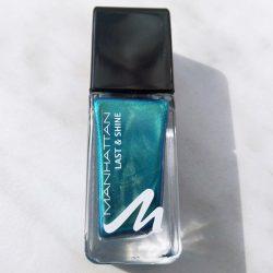 Produktbild zu MANHATTAN Last & Shine Nail Polish – Farbe: 830 Almost Emerald