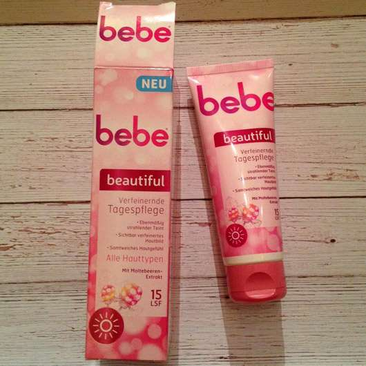 bebe beautiful Verfeinernde Tagespflege - Verpackung und Tube