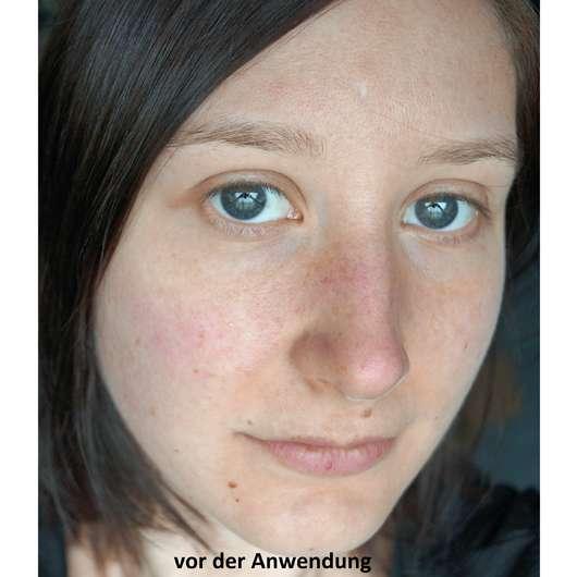 Hej Organic The Relaxer Tuchmaske - Gesicht vor der Anwendung