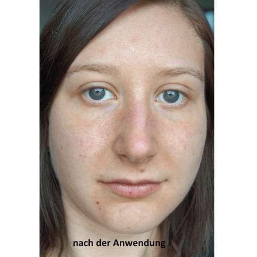 Hej Organic The Relaxer Tuchmaske - Gesicht nach der Anwendung