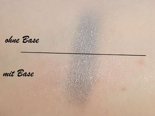 Swatches - p2 chrome grip eye shadow, Farbe: 040 sky scraper