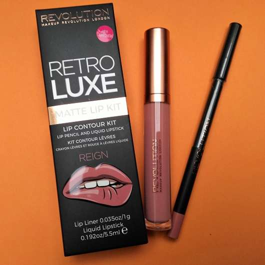 Makeup Revolution Retro Luxe Matte Lip Contour Kit, Farbe: Reign
