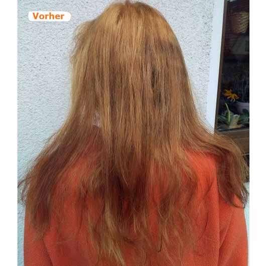 L'Oréal Paris Colovista Washout #Peachhair - blondierte Haare vor der Anwendung