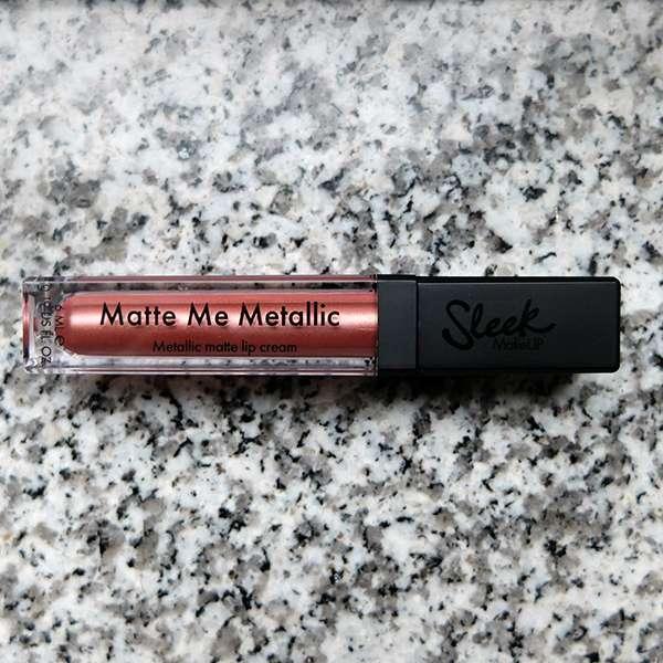 Sleek MakeUP Matte Me Metallic Lip Cream, Farbe: 1166 Electroplated Nude - Flakon