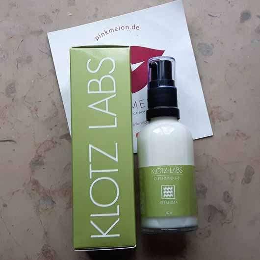 KLOTZ LABS CLEANISTA Sanftes Reinigungsgel - Verpackung und Flasche