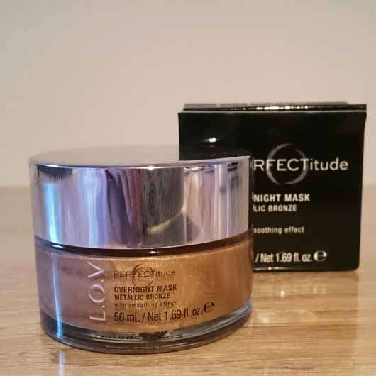 L.O.V PERFECTitude Overnight Mask Metallic Bronze - Verpackung und Tiegel