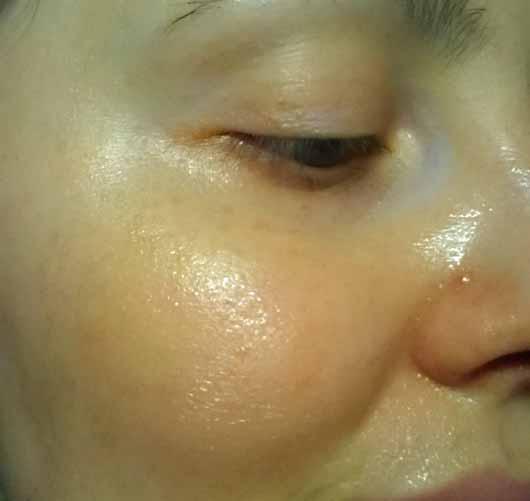 L.O.V PERFECTitude Overnight Mask Metallic Bronze - Maske aufgetragen