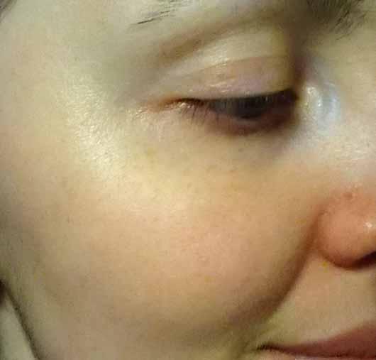 L.O.V PERFECTitude Overnight Mask Metallic Bronze - Hautbild nach der Anwendung