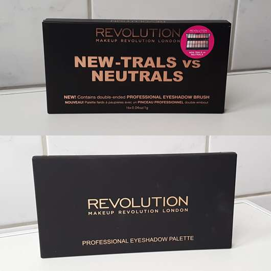 Makeup Revolution Professional Eyeshadow Palette, Farbe: New-Trals vs Neutrals