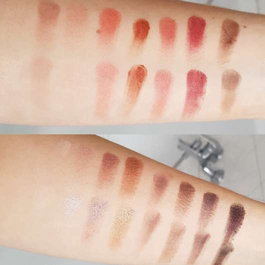 Swatches - Makeup Revolution Professional Eyeshadow Palette, Farbe: New-Trals vs Neutrals
