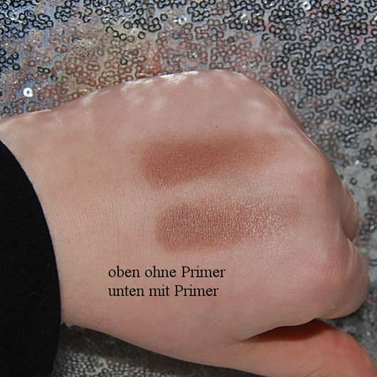 Swatch ohne/mit Kiko Neutral Eye Base